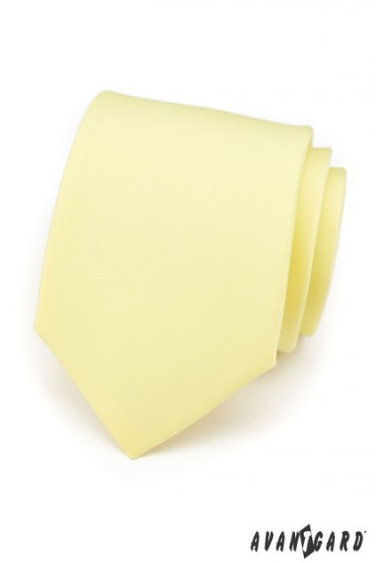 Světle žlutá kravata matná 559 - 7149