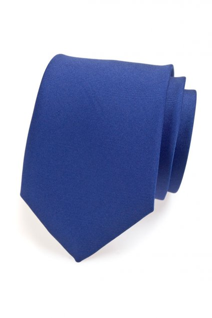 Kravata modrá mat 559 - 781