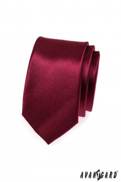Bordó kravata Slim tmavá 551 - 754