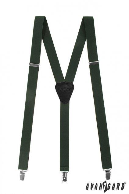 Tmavě zelené kšandy Y na klipy  867 - 4723