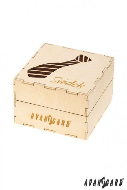 Dřevěná dárková krabička Svědek přírodní dřevo 923 - 3713