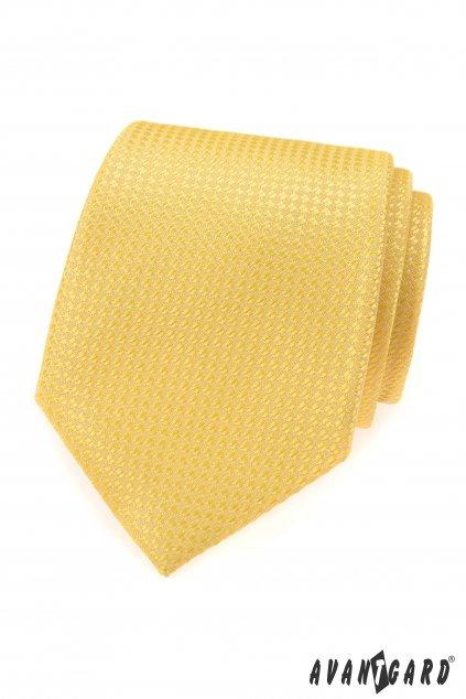 Kravata LUX žlutá 561 - 81341