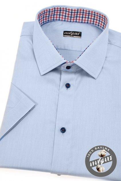 Pánská košile SLIM s krátkým rukávem modrá 913 - 3112