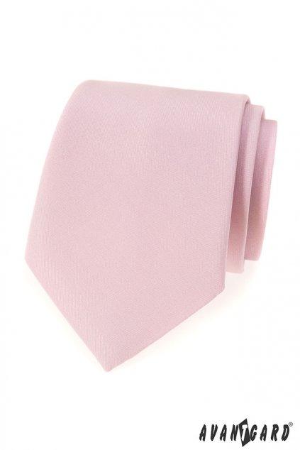 Pánská kravata pudrová matná 559 - 7927