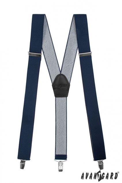 Tmavě modré šle Y na klipy 856 - 3123