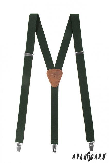 Tmavě zelené šle Y na klipy 867 - 4763