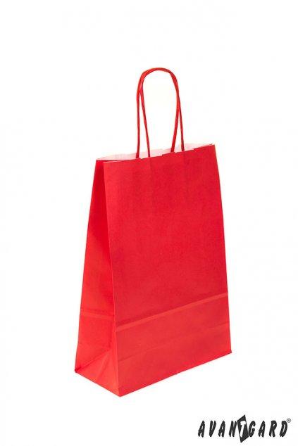 Papírová taška červená 935 - 12