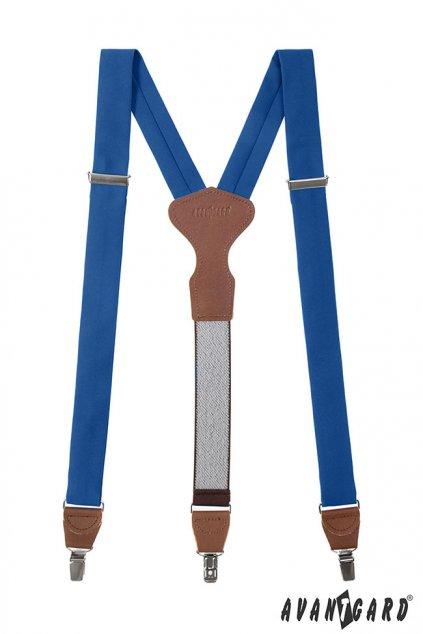 Pánské modré kšandy Y na klipy 878 - 983763