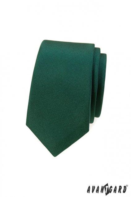 Zelená kravata Slim temná 551 - 7924