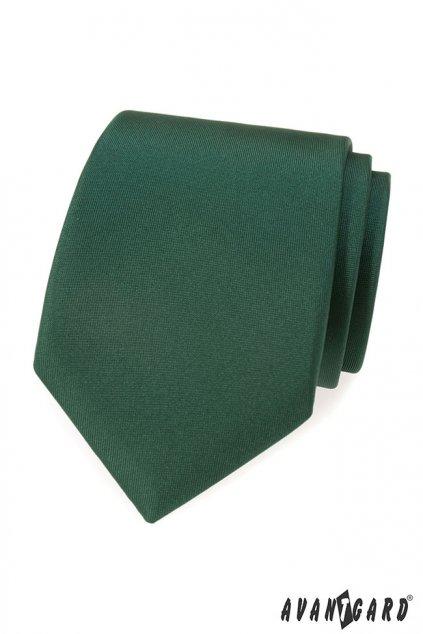 Tmavě zelená kravata matná 559 - 7924