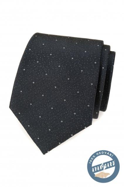 Kravata hedvábná v dárkové krabičce šedá 621 - 7761