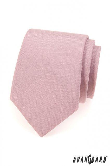 Pudrová kravata matná 559 - 7013