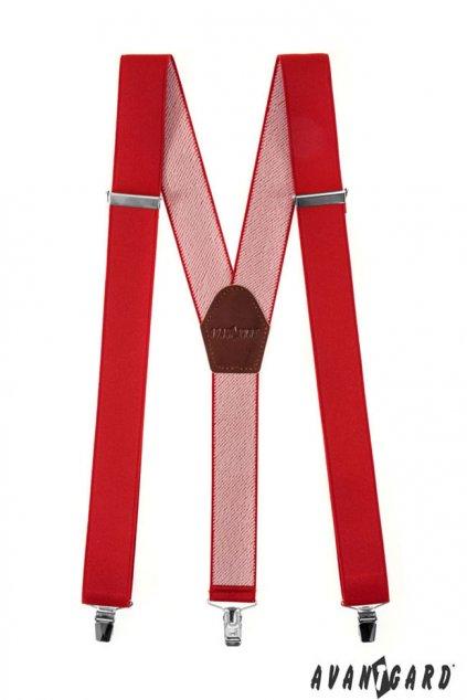 Červené šle na klipy Y 856 - 1263
