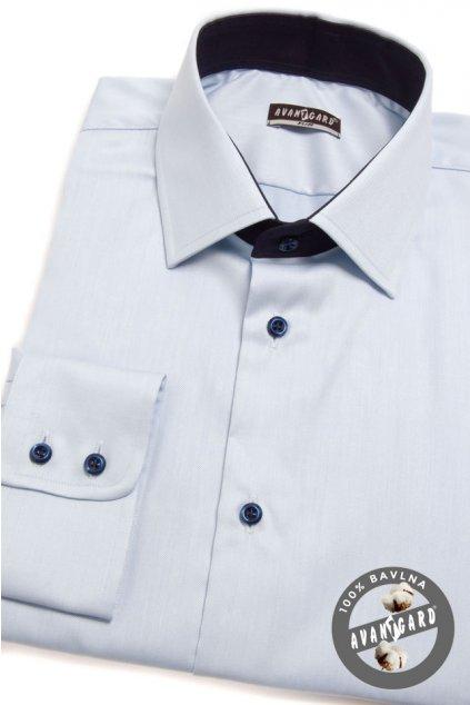 Pánská košile SLIM modrá 109 - 4931