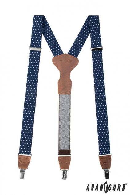 Modré šle Y s puntíky na klipy 878 - 197863