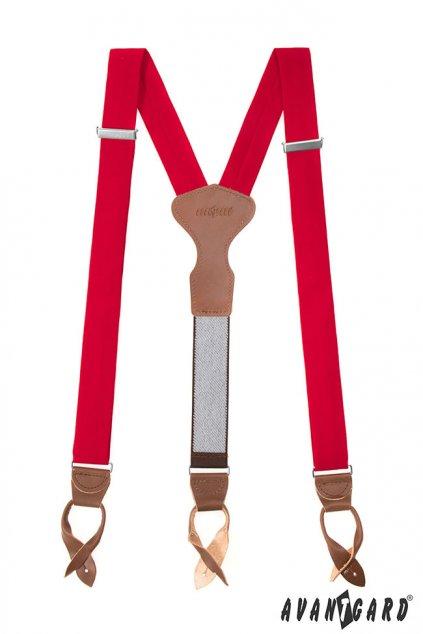 Červené kšandy Y na knoflíky 879 - 985763