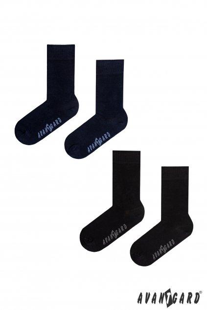 Set Ponožky 2 páry modrá a černá 778 - 05013