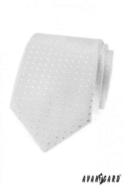 Kravata LUX stříbrná 561 - 81263
