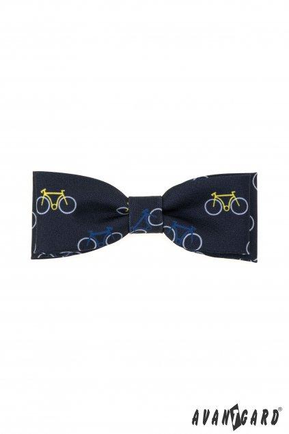 Motýlek KLASIK modrá / vzor cyklistika 576 - 05009