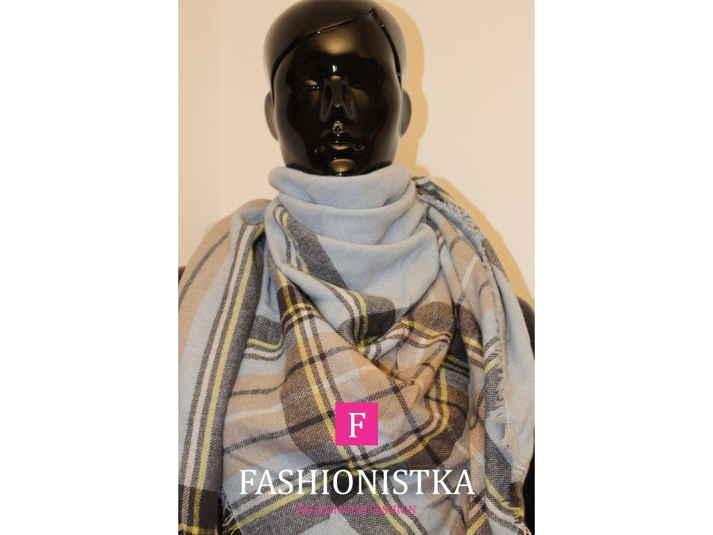 Maxi šátek podzim/zima modrý