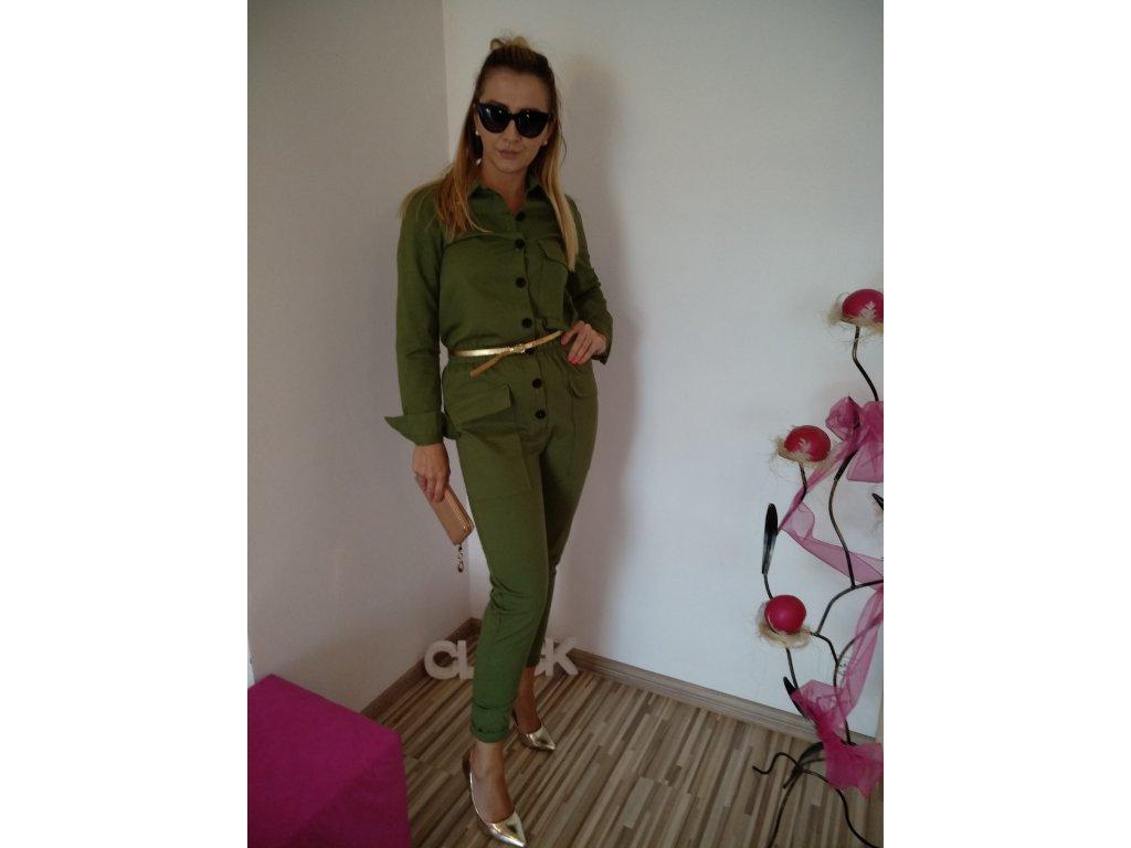 Fashionistka: OVERAL dámský dlouhý zelený
