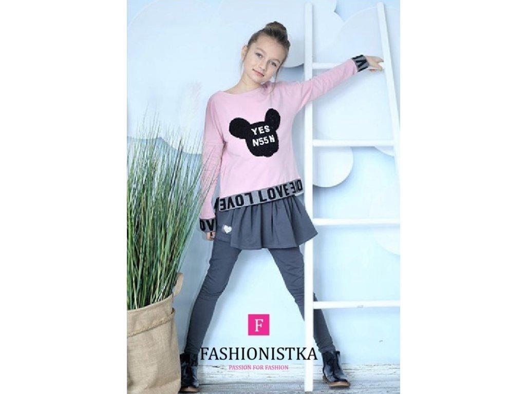 Fashionistka: MIKINA LOVE růžová
