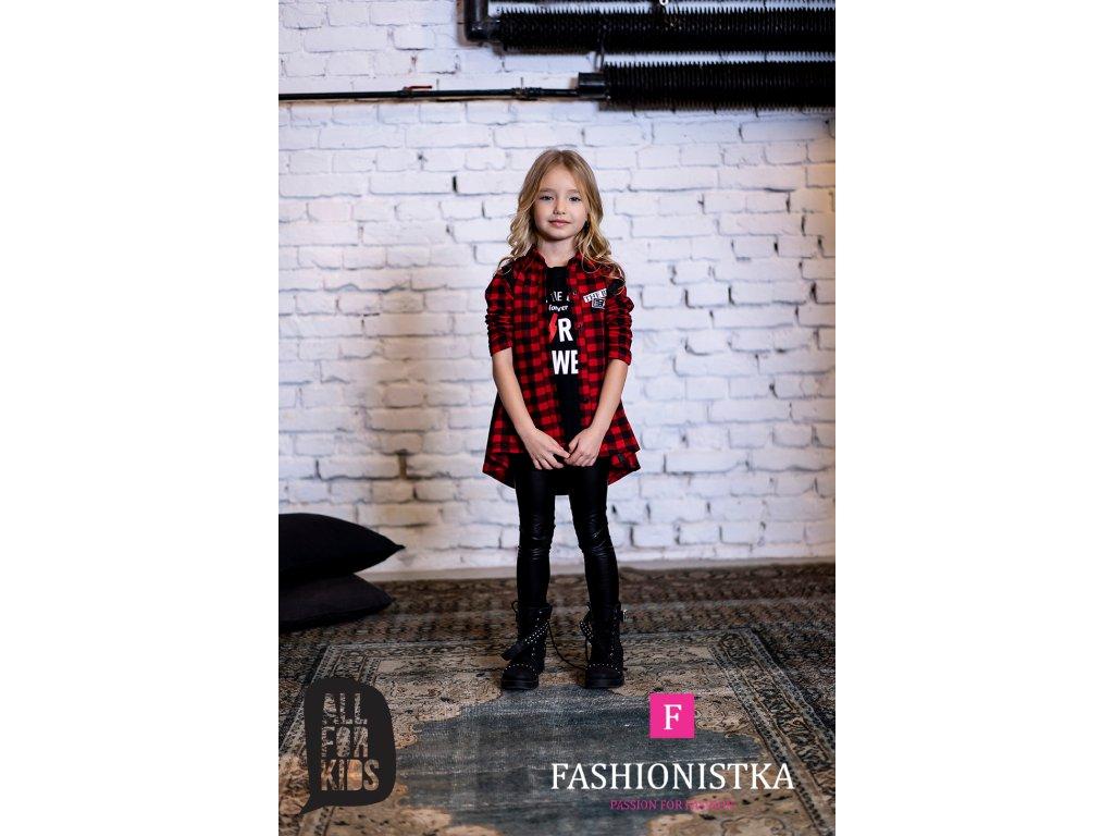 Kostkovaná dívčí košile red/black