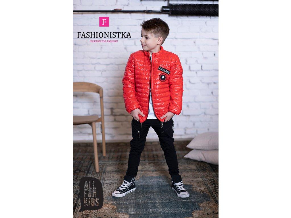 AWESOME  bunda červená jarní/podzimní