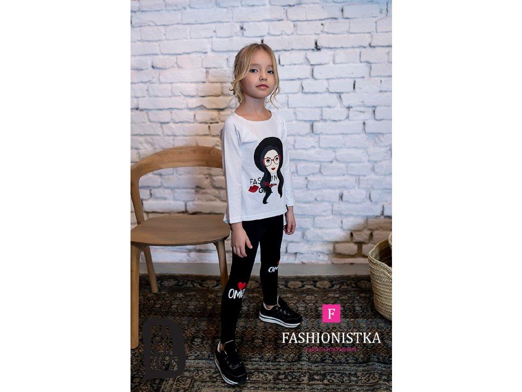 FASHION GIRL bílé triko
