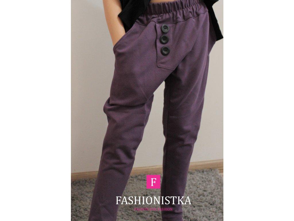 Baggy kalhoty fialové