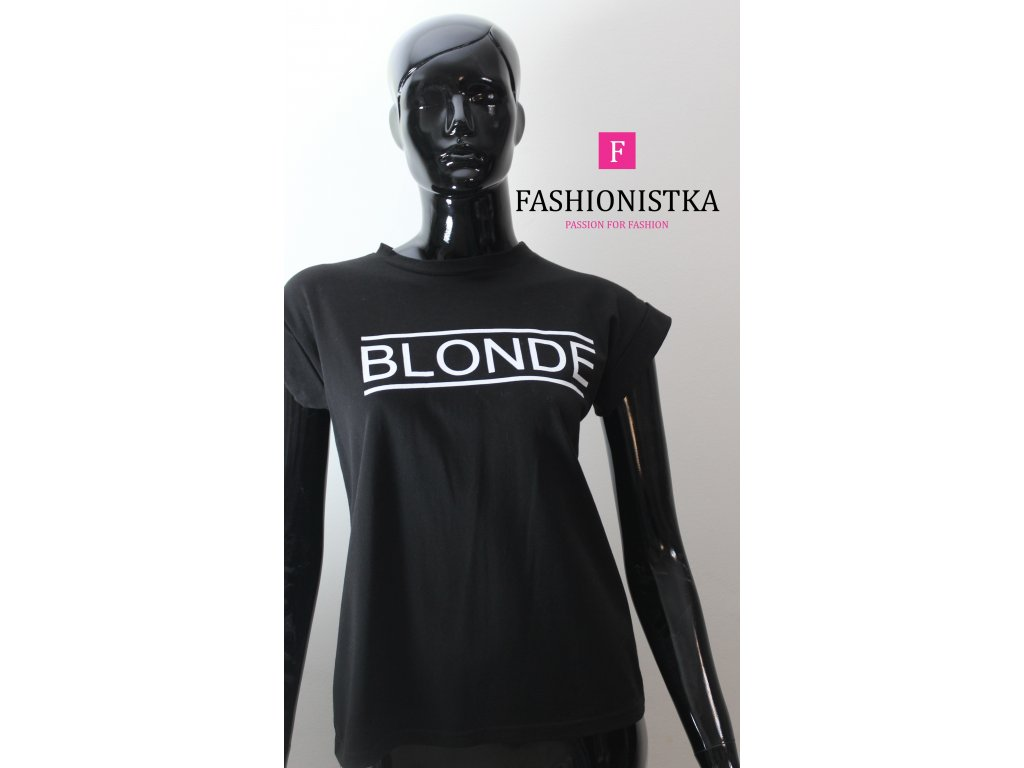 BLONDE černé triko