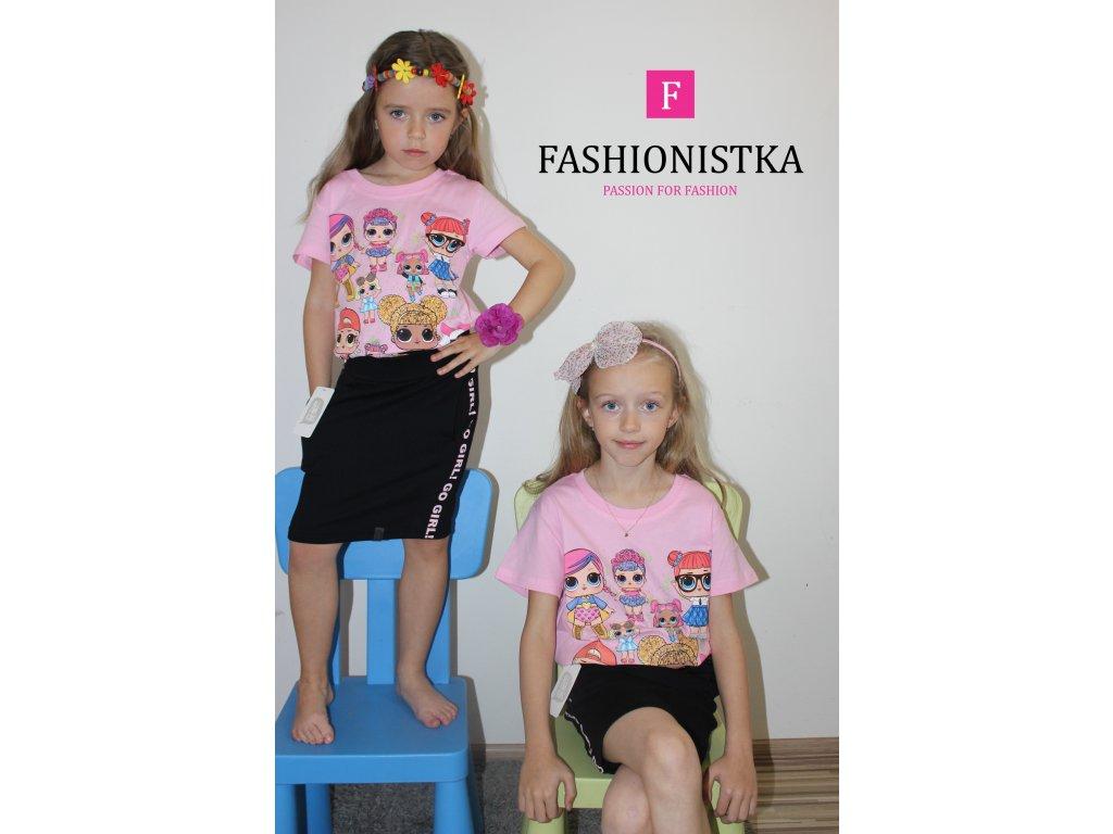 Fashionistka: TRIČKO dívčí LOL růžové