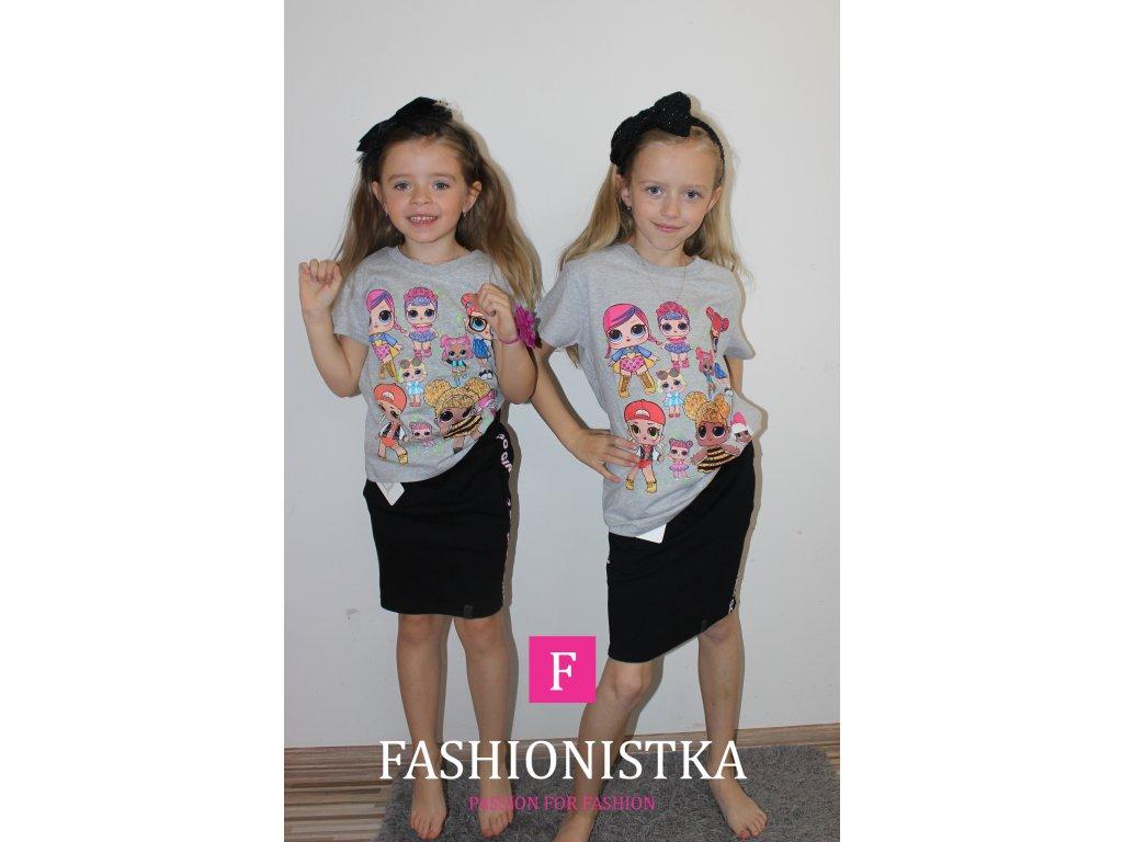Fashionistka: TRIČKO dívčí LOL šedé