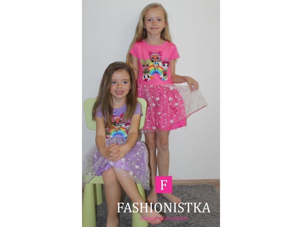 LOL růžové šaty s tylovou sukýnkou