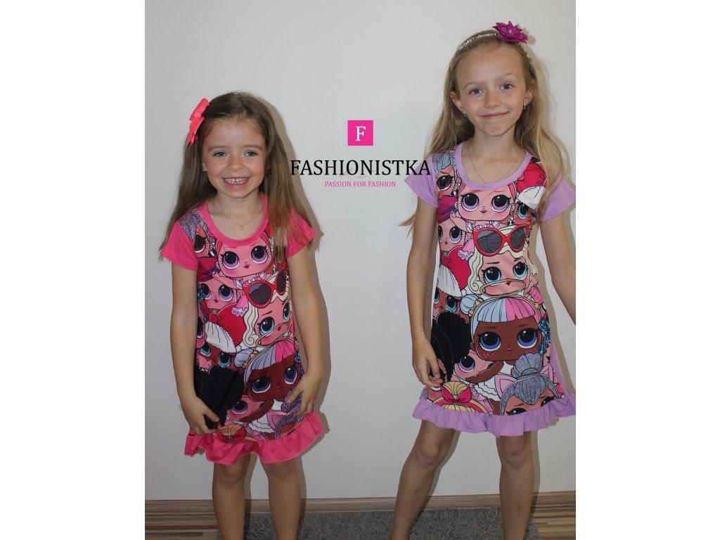 LOLky fialové šaty