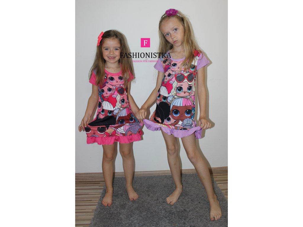 LOLky růžové šaty