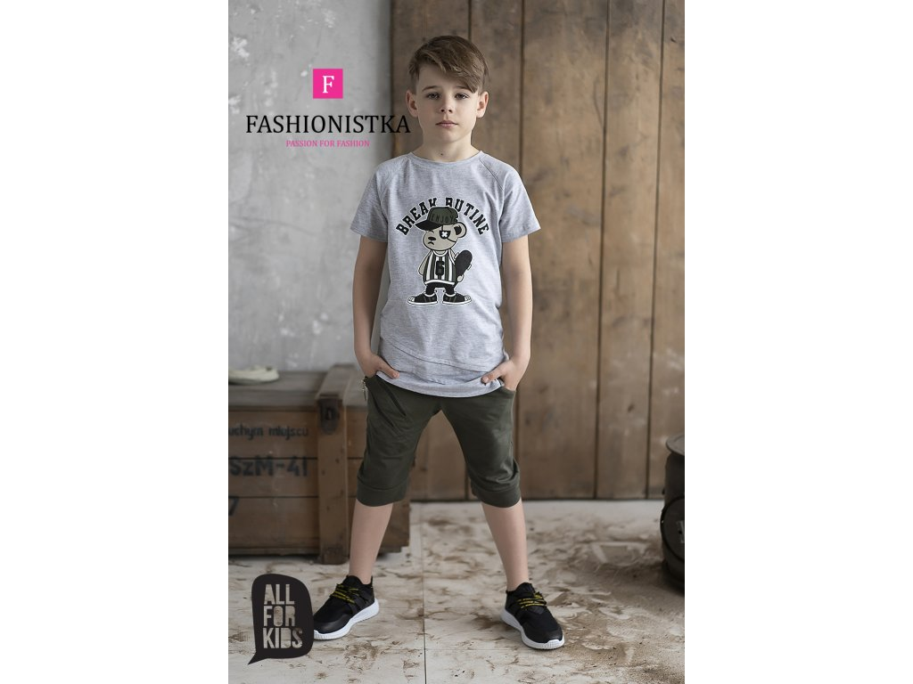Fashionistka: TRIČKO s potiskem ALL FOR KIDS šedé