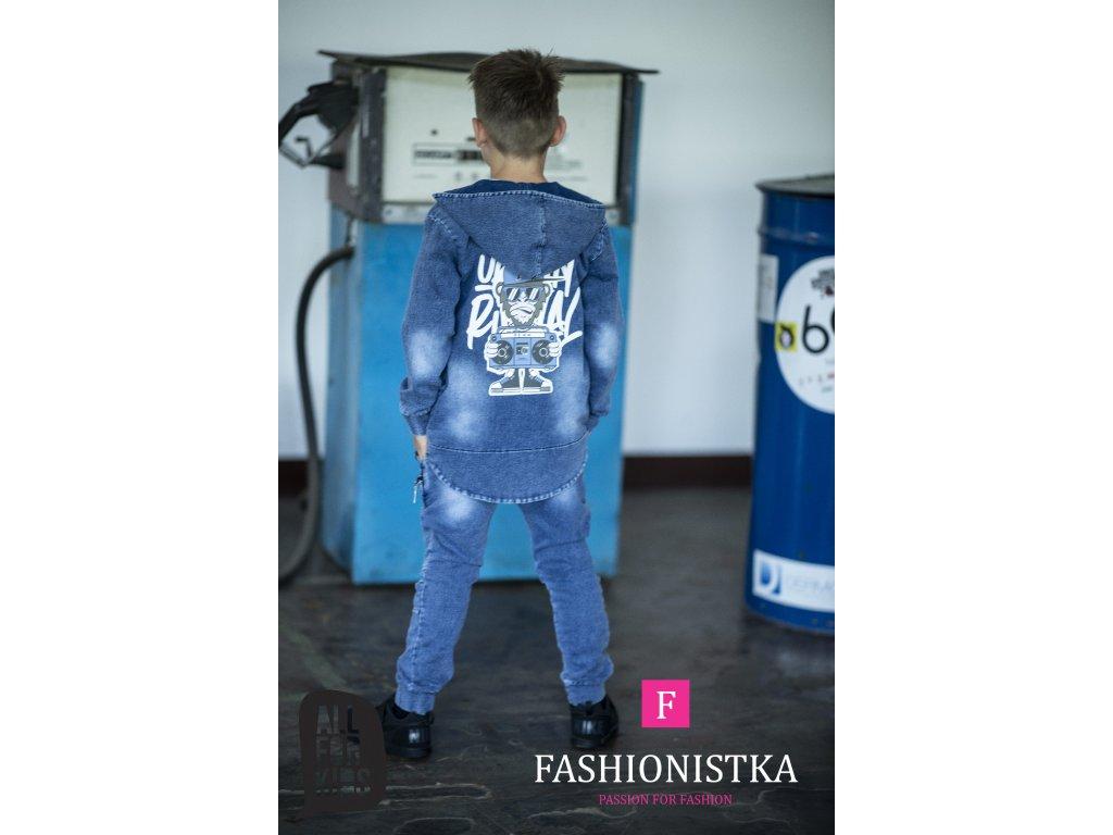 Fashionistka: MIKINA urban JEANS modrá