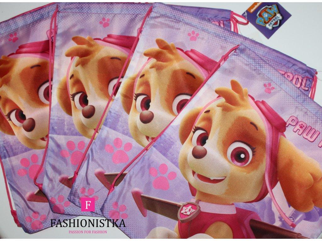 Tlapková patrola pytlový batoh růžový