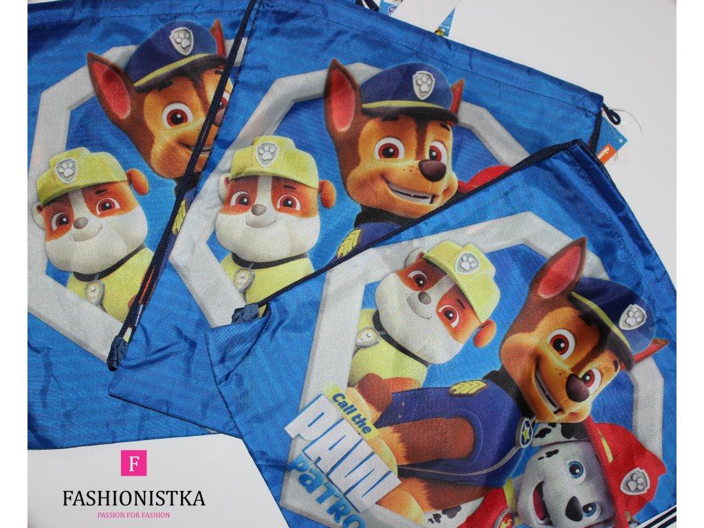Tlapková patrola pytlový batoh modrý