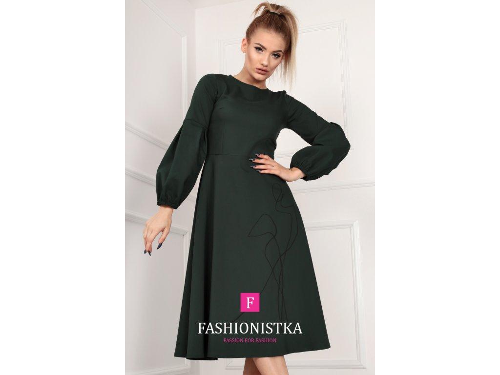 Fashionistka: Dámské zelené šaty ONE