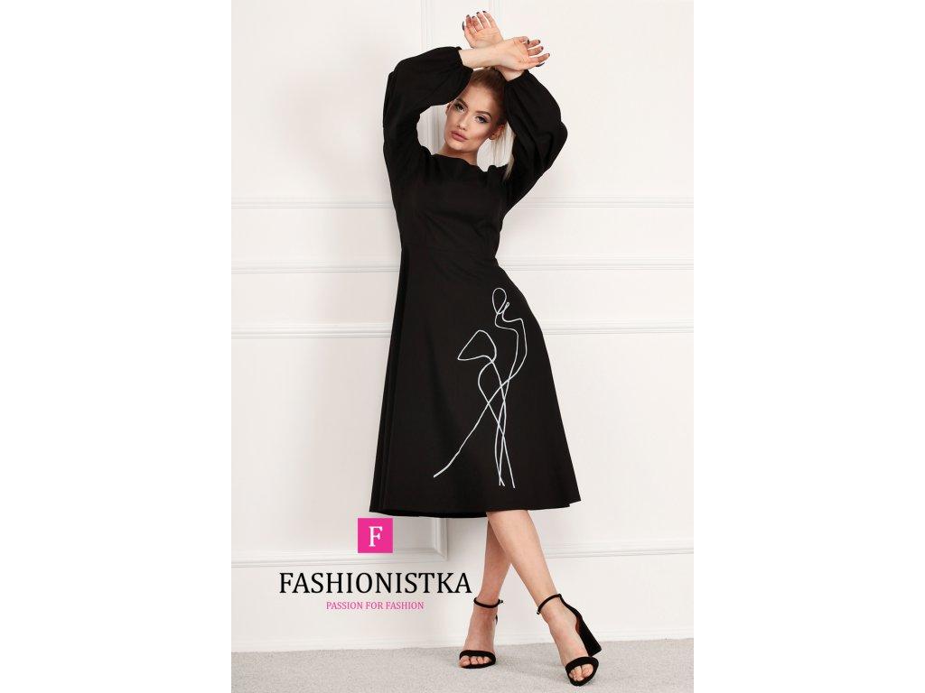 černé šaty ONE