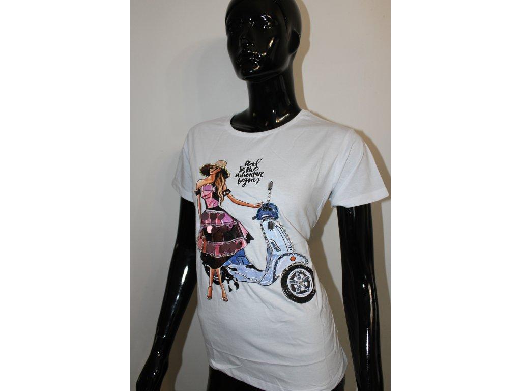 ADVENTURE  bílé tričko