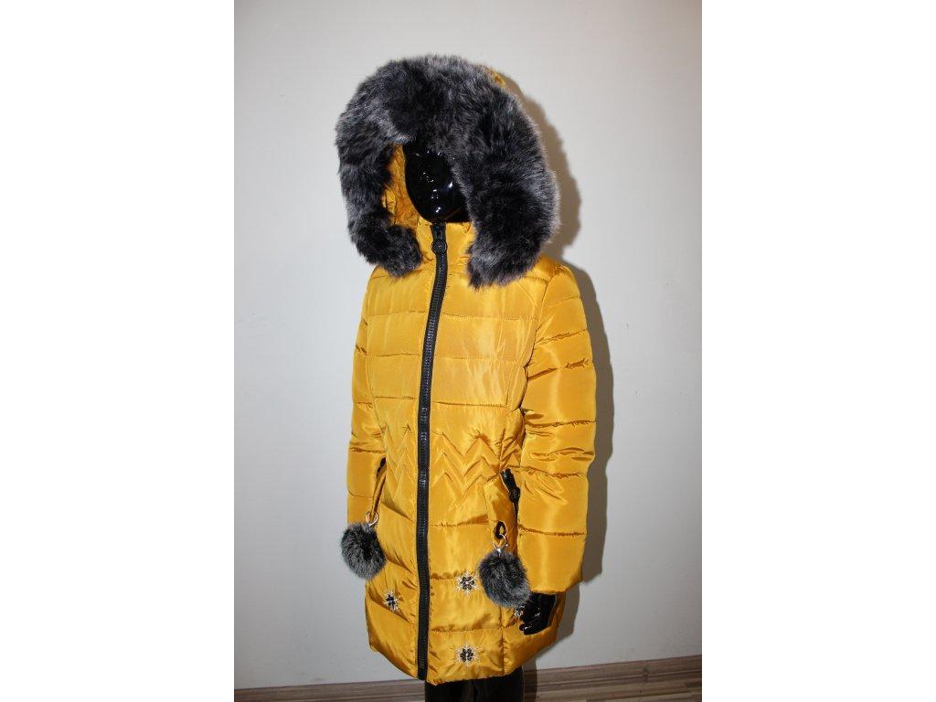 Fashionistka: KABÁT zimní holčičí hořčicový