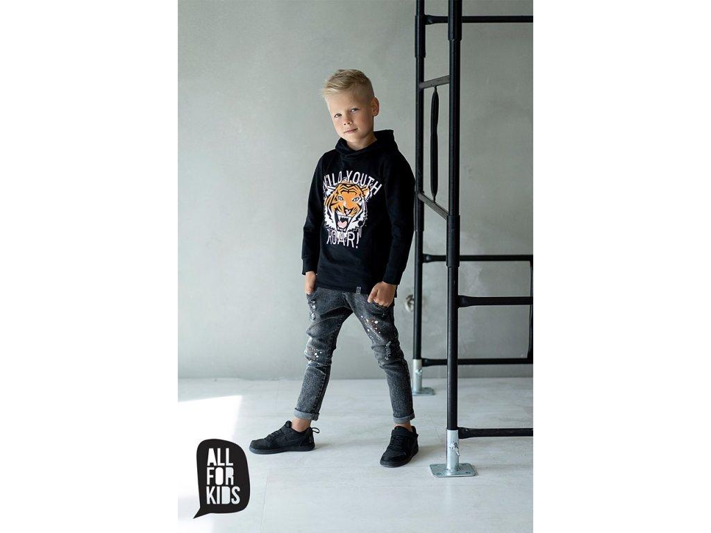 Fashionistka: MIKINA tiger ALL FOR KIDS černá