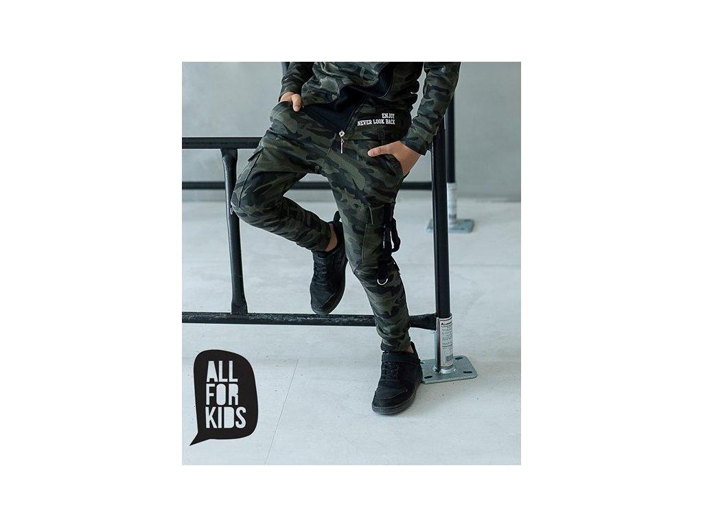 ARMY kalhoty s přezkami