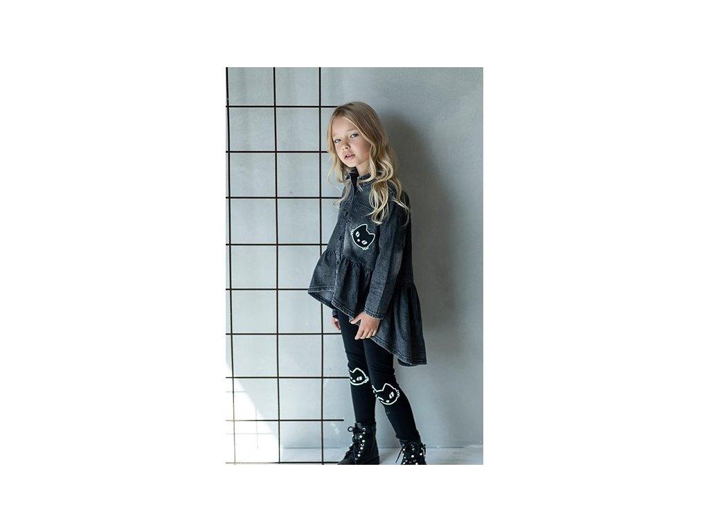 Fashionistka: TUNIKA košilová JEANS černá