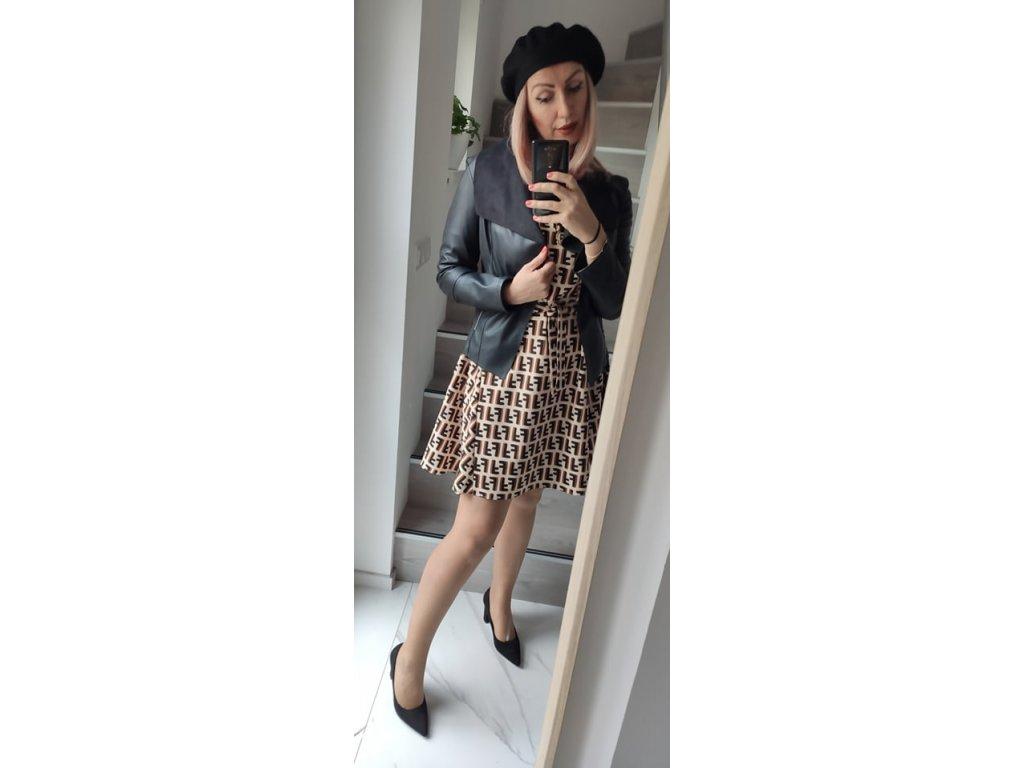 Fashionistka: ŠATY dámské béžovohnědé