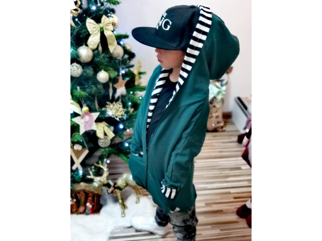 BEAR mikinový kabátek /zelený
