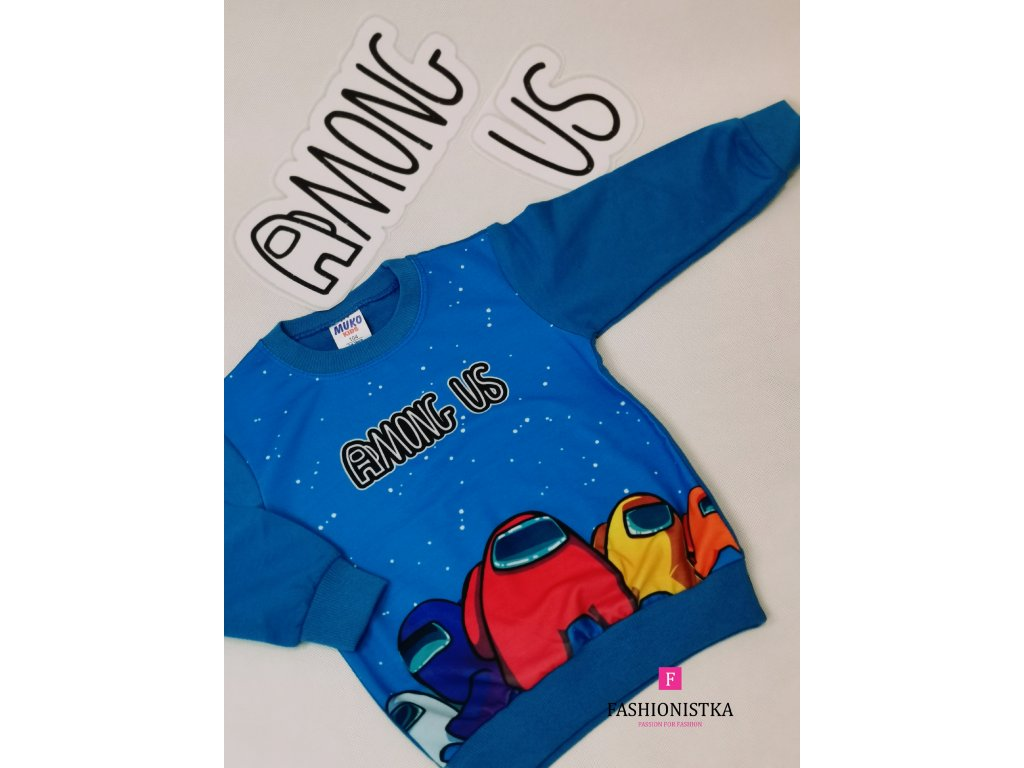 Fashionistka: MIKINA bavlněná AMONG US modrá